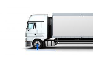 System zum Wiegen und Steuern der Last auf den Achsen-Lastwagen