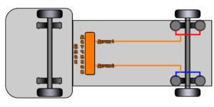 Бортовая система взвешивания и контроля нагрузки на ось